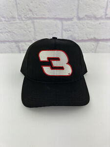 VTG 90s Dale Earnhardt #3 Black Blockhead Snapback Hat Cap NASCAR Cup Made USA