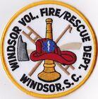 Windsor Vol. Fire Rescue Department South Carolina patch NEW
