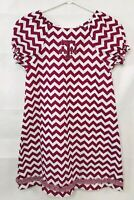 Vive La Fete Texas A&M Chevron Pattern Dress Size 8 Excellent!!! Maroon White