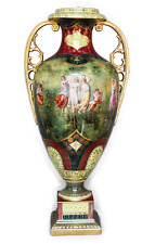 A FINALY FRENCH SEVRES STYLE HAND PAINTED VASE
