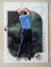 Lee Janzen Autographed 2001 Upper Deck SP Golf Card