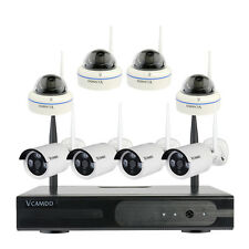 8CH Wireless Home 8*1MP/720P IP Cameras CCTV Surveillance Security System Kit