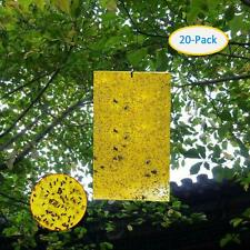 """20 Pack Garden Sticky Traps Cucumber Beetle Trap Fruit Fly Trap Fly Paper 6""""x8"""""""