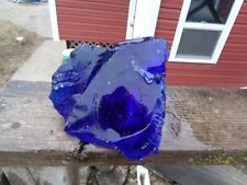 Glass Rock Slag Pretty Clear Cobalt Blue 4.12 lb Dd74 Landscaping Aquarium