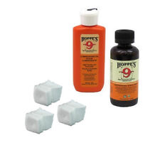 HOPPES Gun Bore Cleaner PLUS LUBRICATING OIL & 80 PATCHES for .17 Caliber