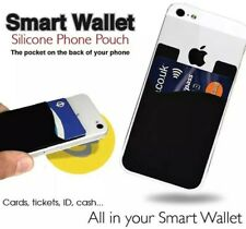 5pc Smart Wallet Card Holder Stick-On Phone Case |US Stock and guarantee | Black