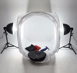 80cm Studio Photography Quality Soft Box Light Photo Tent Cube 4 Color backdrop