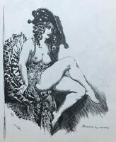 1971 1st GRAPHIC ILLUSIONS, NORMAN LINDSAY w 1 large plate by Norman Lindsay