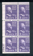 807a Prexie Prexy 100% Plate Number 22437 Booklet Pane Variety MNH 9L17 28