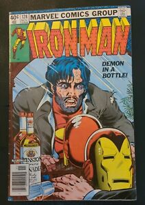 Marvel Iron Man #128 Demon in a Bottle Classic Cover and story 1979