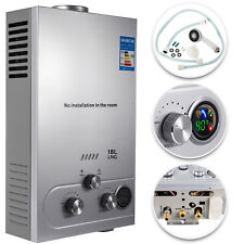 18L Hot Water Heater Natural Gas Tankless Instant Boiler With Shower Kit
