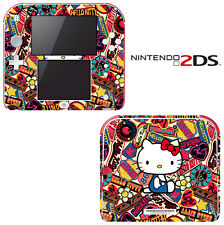 Vinyl Skin Decal Cover for Nintendo 2DS - Cute Kitty 3D Glasses