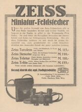 Y6185 ZEISS Miniatur-Feldstecher - Pubblicità d'epoca - 1925 Old advertising