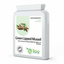 Green Lipped Mussel Extract 500mg 90 Capsules - UK Made GMP Quality Guarantee