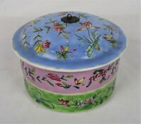Antique Chinese Famille Rose Porcelain Stacking Lunch Box Two Tier Signed