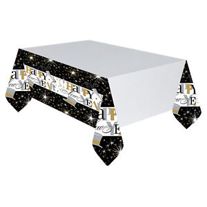 3 x New Year Plastic Tablecovers new year Catering Party Table Covers Tableware