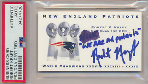 ROBERT KRAFT SIGNED BUSINESS CARD AUTHENTIC AUTO PSA/DNA