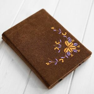 Floral Embroidery Design Cover Case for PocketBook InkPad Color Pro 3 Lux 4 5