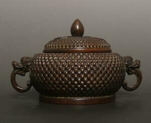 Old Chinese Bronze Incense Burner With Chen Qiaosheng MK