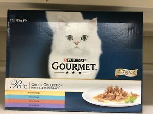 Gourmet Perle Chefs Collection (Turkey  Tuna  Duck  Lamb) - 12pk X 85g Brand New
