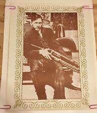 poster pin-up Clyde Barrow 1968 Satori Cowboy Gangster Vilain Wild West Bad Guy