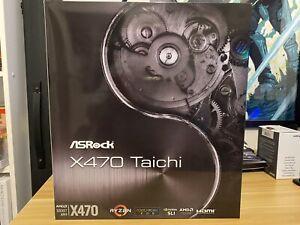 ASRock X470 Taichi Motherboard Brand New
