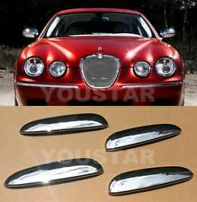 US STOCK Set x4 Bright CHROME Door Handle Lever Covers for Jaguar S-Type S Type