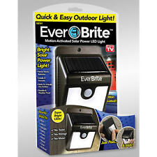 Ever Brite Outdoor Motion Activated Solar Power LED Light Stick Up As Seen On TV