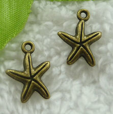 Free Ship 480 pieces bronze plated star charms 17x13mm #2116