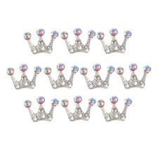 10x Crown Crystal Buttons Rhinestone Flatbacks Embellishments Craft Supplies