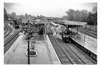 pt9610 - Brockenhurst Railway Station , Hampshire in 1963 - photograph