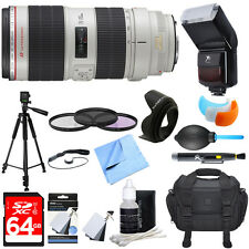 Canon EF 70-200mm f/2.8L IS II USM Telephoto Zoom Lens Ultimate Accessory Bundle