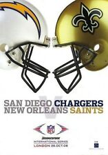 2008 - NFL AT WEMBLEY - SAN DIEGO CHARGERS v NEW ORLEANS SAINTS - PROGRAMME