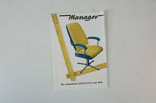 Manager Orthopedic Swivel Chair Office Chairs 60/70er Years Brochure Vintage b5262