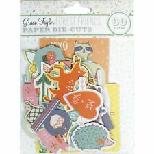 30 GRACE TAYLOR FOREST FRIENDS EMBELLISHMENTS  FOR CARDS OR CRAFTS