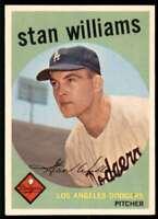1959 Topps Baseball Stan Williams Los Angeles Dodgers #53