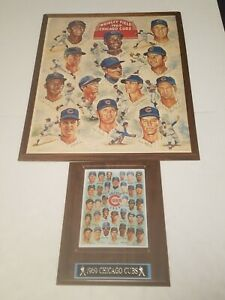 1969 CHICAGO CUBS POSTER & PLAQUE