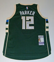 BUCKS Jabari Parker signed Adidas Swingman green jersey JSA COA AUTO Autographed