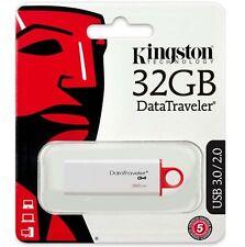 Kingston 32GB DTIG4 USB DataTraveler G4 32G USB 3.0 Pen Drive DTIG4/32GB Retail