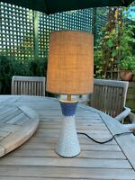 CONTEMPORARY DANISH CERAMIC LAMP STUDIO STYLE GLAZED POTTERY
