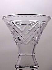 LOVELY LEAD CRYSTAL CUT GLASS VASE WEDDING DECO 16CM TALL
