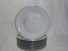 9 Noritake Carthage Salad Plates 3330, Pink Flowers