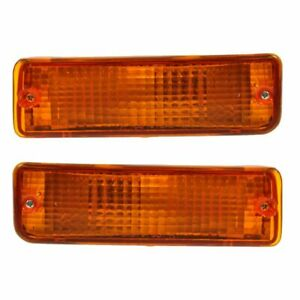 Bumper Mounted Signal Parking Light Pair Set for 93-98 Toyota T100