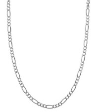 "Italian Made .925 Sterling Silver 24"" Inch Figaro Chain Link 6mm Necklace N102"