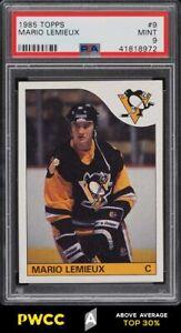 1985 Topps Hockey Mario Lemieux ROOKIE RC #9 PSA 9 MINT (PWCC-A)