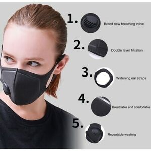 1/3/5 PCS Face Cover Cloth Anti Dust Smoke Pollution Covering Adjustable Straps
