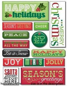 HAPPY HOLIDAY PEBBLES MAMBI Soft Spoken 3-d Gemstone Stickers