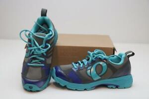 New Pearl Izumi X-Road Fuel III MTB Bike Shoes 37 6 2-Bolt SPD Blue Gray Women's