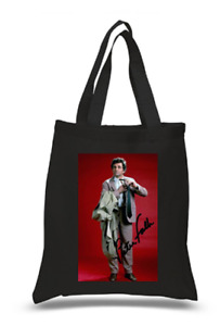 Shopper Tote Bag Cotton Black Cool Icon Star Columbo Dolly Ideal Gift Present
