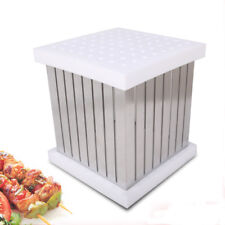 Kebab Maker Box 64 Holes Meat String Barbecue Accessories Tools Kebob Machine